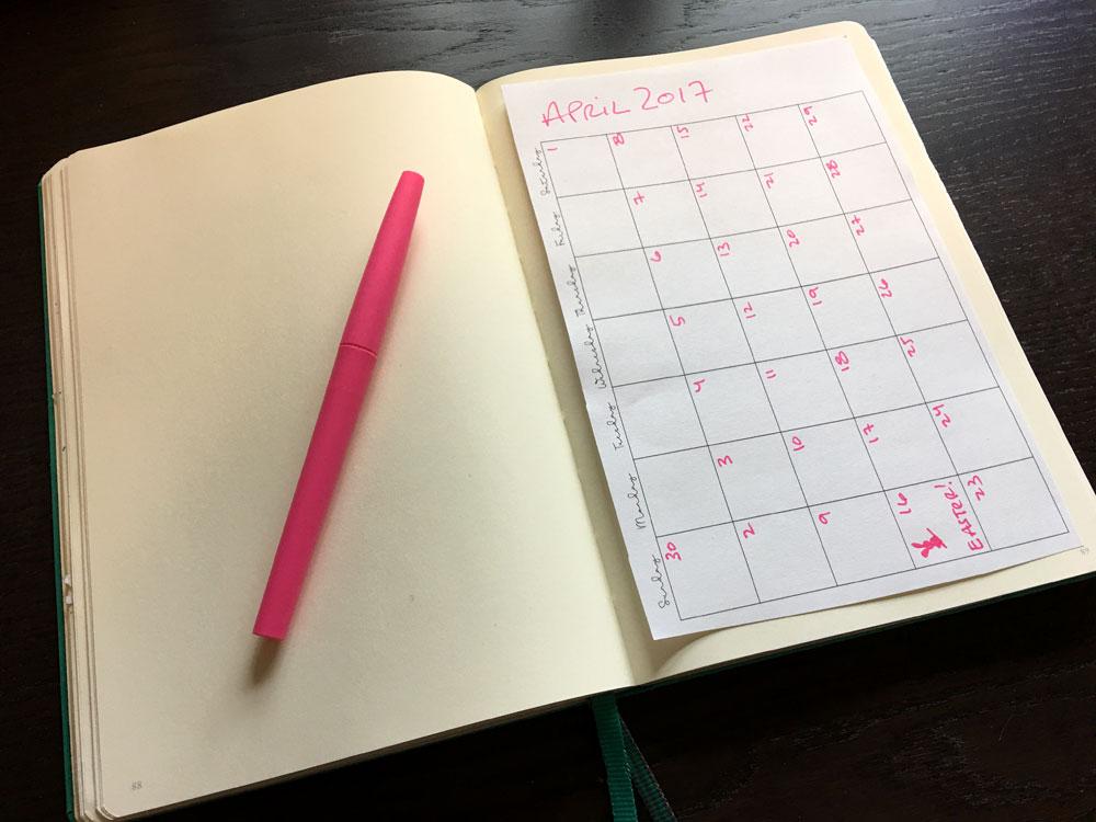 Monthly Calendar No Dates : Blank monthly printable calendar laura kinker designs